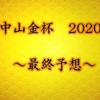 【中山金杯 2020】最終予想