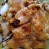 豚肉の生姜焼き 02 きのこ玉ねぎ炒め添え