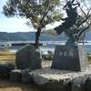 滋賀にある余呉湖、白鬚神社
