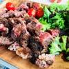キャンプ男子メシ部(夜ご飯) 牛肉の厚切りステーキ  豪華感がハンパないっ!