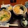 多なか(文京区湯島)のたぬきそば(冷)と衣笠丼(ごはん軽め)