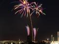 臨港パークから見る横浜開港祭の花火