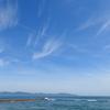 弓ヶ浜海岸から見る青。