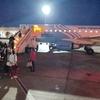 エジプト アスワン空港 から カイロ空港へ エジプト航空国内線 MS398便ビジネスクラス搭乗、閑散... 夕暮れのアスワン空港