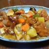 昨日の晩飯 酢豚と中華風コーンスープを作ってみた