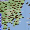関東猛暑、伊勢崎37.4℃