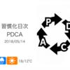 コンディションの「波」が大きくはずれ気味[習慣化日次PDCA 2018/05/14]