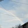 ヒコーキ雲 ダブルレインボー