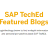 SAP TechEd 2019関連のSAP Blogsまとめ