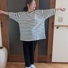 オーガニックコットンの中で身体が泳ぐボーダートップス|ビッグTシャツの魅力を知りました