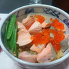 今日の晩飯 鮭はらこ飯と揚げ出し豆腐を作ってみた