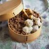 蒸し里芋のネギ塩ダレ和え弁当