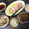 【夜】豚ももはちみつ醤油漬け、スープ、切り干し、エリンギ炒め/【昼】焼きうどん