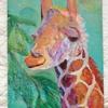 【アクリル画】キリンの肖像