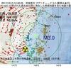 2017年10月13日 12時32分 宮城県沖でM3.0の地震