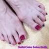 ステラのおすすめフットメニューで美しく健やかに♡赤紫な大人の夏フットネイル☆