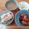 ジャガイモの煮つけと味噌汁