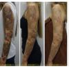マルチカラフル7色タトゥー。6回分全過程