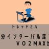 【トレッドミル】1分インターバル平凡でしたが、しかし【ガーミン】VO2MAXは!