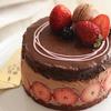 いちごのチョコチーズケーキ