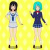 なっちょちーずさんのブログキャラクター「葵」さんと「結衣」さんのファンアートに挑戦したの回