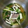 ホットクック: 牛肉と小松菜のスープに挑戦!漬けこみダレで牛肉の美味しさ倍増♪