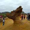 野柳地質公園の奇岩観光