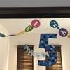 5歳の誕生日。折り紙で作るガーランド