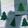 マスキングテープで簡単ステンシル【クリスマスツリー】
