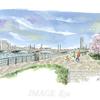 桜咲く🌸信濃川やすらぎ堤の穏やかな春のひととき