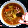 ボルシチ風煮込みスープを作ってみた( トマト缶1本目 )