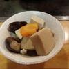 高野豆腐とシイタケと人参の煮物!