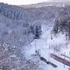 銀雪のしなの鉄道撮影(1):黒姫~妙高高原,国境の銀世界を大俯瞰。