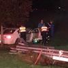 夜中のくつろぎタイムで突然の停電… 家のすぐそばで車が電柱をなぎ倒していました…