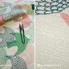 夏のワンピースを縫う。