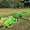 濡れたムーンライト7、アストロドームを公園で乾かしてみた