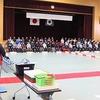 卒業式の練習 歓送の会(屋外)リハ