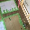 改装工事 ~ 2018/05㉑ 厨房床張り、ドアの枠、柿渋液