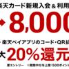 4月10日~19日!楽天カードの発行で8000P還元、さらにポイントサイト経由でプラス1万円