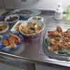 幸運な病のレシピ( 268 )朝:鳥唐揚げ、煮しめ、弁当セット、みそ汁