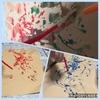 【1歳3歳育児】吹き絵に挑戦した日【家庭学習】