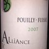 Pouilly Fuisse Alliance V Julien Barraud 2007