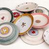 色絵リム皿