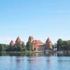 湖畔に建つ美しいバルト三国リトアニアの古城トラカイ城