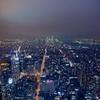 摩天楼!ニューヨークのエンパイアステートビルから夜景を写真撮影。