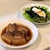 角煮&サラダ&豚汁(&肉団子ラーメン風@ランチ)