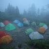 【登山】2012.7.14_西穂高岳(2)雨の夜~西穂山頂~山荘帰還