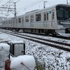 東武スカイツリーラインでの雪撮影