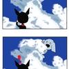 【犬漫画】入道雲とレイ