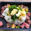 ⑲バイクで朝食を「モーツー」 ムンク風ペッパーランチ